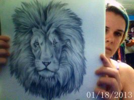 Lion - In Charcoal by RaidFox