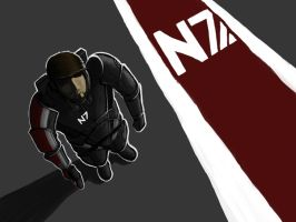 Mass Effect N7 by Scha11enkrieger