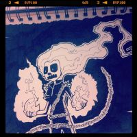 Eleanor is Ghost Rider by jgurley