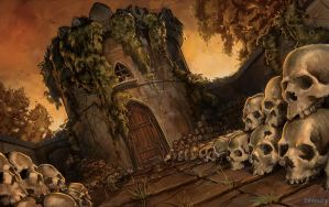 Mausoleum of Skulls by whatyoumaydo