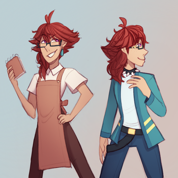 Couple of casual Jacksons by TheZodiacLord