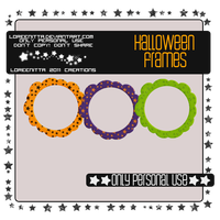 7 Halloween Frames by Loreenitta
