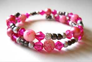 Pink Marble Bracelet by LypticDesigns