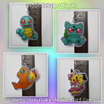 Pokemon Kanto Starters Laminated Keychains Keyring by Alien-Snowflake