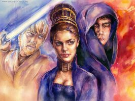 Star Wars: ROTS watercolor by Callista1981