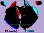 Phoenix And Mega Sisters forever by phoenix-R-fireheart