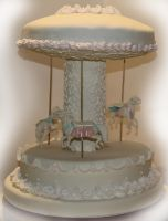 Horse Carousel Cake by mysweetstop
