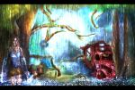 Julian Tomb Raider Raining by MatthewMgGift