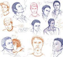 L4D2 Nick+Ellis Sketches by Cizu