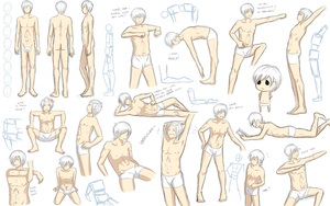 Male anatomy practice by Katkat-Tan