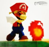 The papercraft of Super Smash Bros 64 MARIO. by japanese-paperman