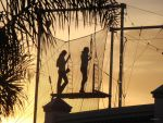 Trapeze at sunset by ClickCity