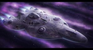Pulsar-class heavy fighter carrier by Shoguneagle