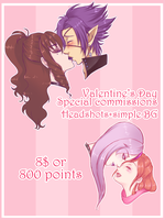 V Day Special commissions CLOSED by HellAwaitsArts
