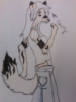 Wolf Dewy (me) almost done-ish... by Writerinhiding