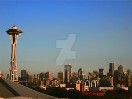 Blue Sky in Seattle by Sing-Down-The-Moon