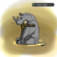 ACHIEVEMENT UNLOCKED: Rhino Hugger by Halo-Yokoshima