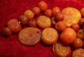 Polymer Clay Faux Amber by ValerianaSolaris
