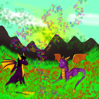 .:CE:. Talan and Spyro by ShadowXEyenoom