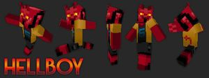 HellBoy MineCraft Skin by JohnnySix