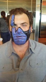 sub zero face paint by funfacesballoon