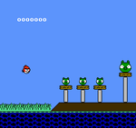 NES Angry Birds Mockup screenshot by SegaSonic91