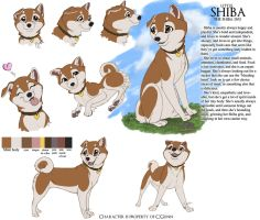Shiba Model Sheet by InstantCoyote