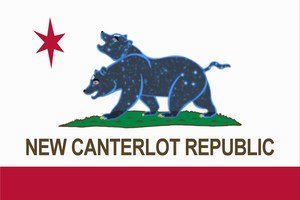 New Canterlot Republic flag by JustMoth