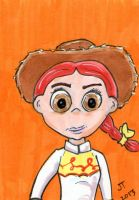 Jessie from Toy Story sketch card by johnnyism