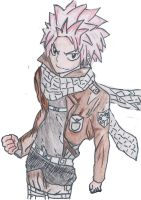 Natsu the Titan Slayer by AznEyesWhiteDragon