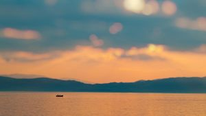 Ohrid Lake Sunset III by PortraitOfaLife