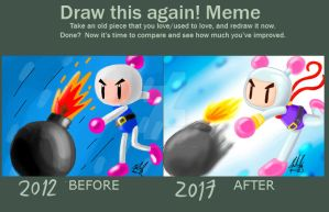 Draw this again! Meme - Bomberman Bomb by SailorBomber