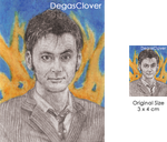 Tenth Doctor - Pencil Mini portrait by DegasClover