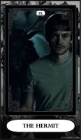Hannibal Tarot: IX - The Hermit by DarkFairyoftheWood