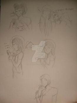 The Archangels and Lucifer sketch dump by Demon-eyed-Angel