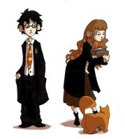 Harry and Hermione by Leamlu