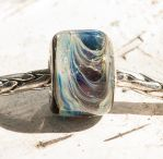 New GLASS Pandora bead 'Fallon' silver-cored by copperrein