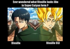 Rivaille as a Super Saiyan by Eroshik