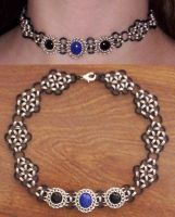 onyx and lapis choker redone by DonaIvanova