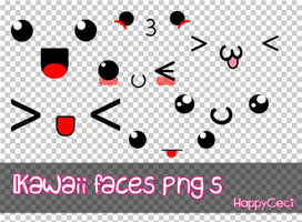 Kawaii Faces Png by HappyCeci