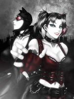 Harley Quinn and Catwoman by okai418