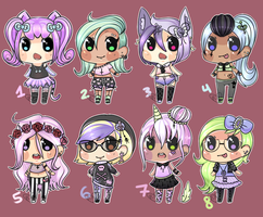 Pastel Goth Big Set (ahh closed i think) by ribbon-adopts