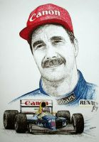 Nigel Mansell Tribute by machoart