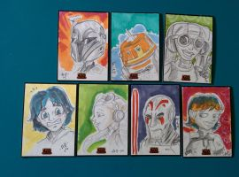 Star Wars Rebels Sketch cards 3 by artyewok
