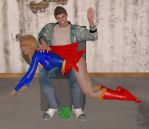 Supergirl Spanked by cattle6