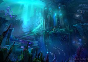 Background:undersea city by Ecystudio