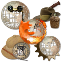 Steampunk Victorian Browsers Icons by pendragon1966