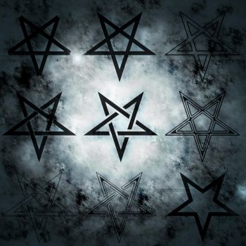 Pentagram Photoshop Brushes by drafff98