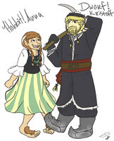 Anna and Kristoff in Middle Earth by SiceroSweettea
