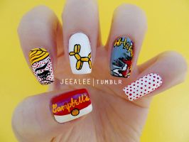 Pop Art Nails by jeealee